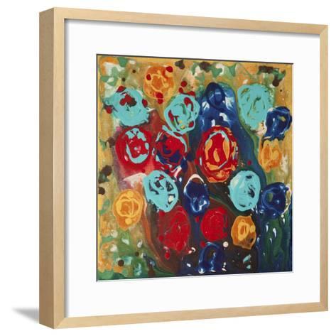 Abstract Flowers 3 - Canvas 1-Hilary Winfield-Framed Art Print