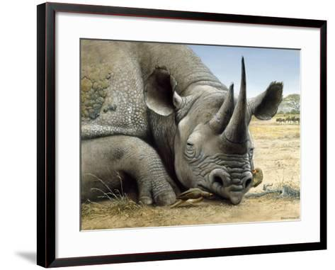 Black Rhino-Harro Maass-Framed Art Print