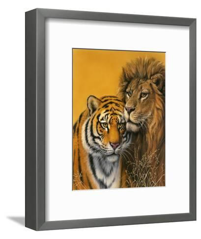 Lion and Tiger-Harro Maass-Framed Art Print