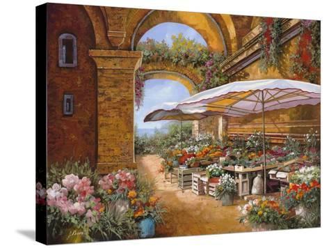 Il Mercato Sotto i Portici-Guido Borelli-Stretched Canvas Print