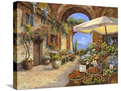 Il Mercato del Lago-Guido Borelli-Stretched Canvas Print