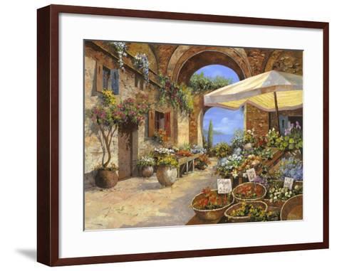 Il Mercato del Lago-Guido Borelli-Framed Art Print