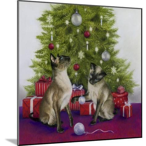 Christmas Siamese Cats-Janet Pidoux-Mounted Giclee Print