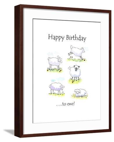 Happy Birthday Sheep-Jennifer Zsolt-Framed Art Print