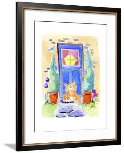No place like home-Jennifer Zsolt-Framed Art Print