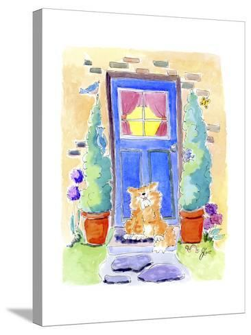 No place like home-Jennifer Zsolt-Stretched Canvas Print
