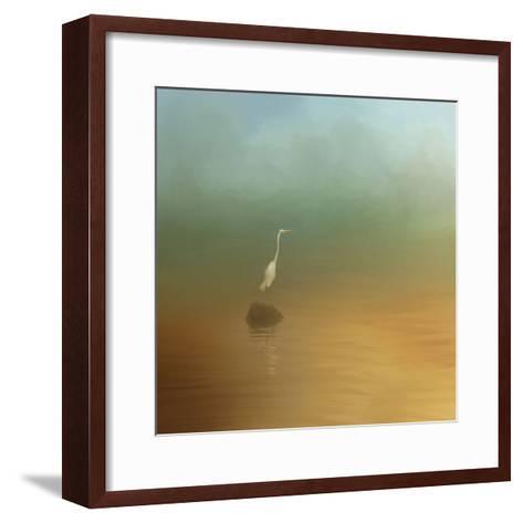 Egret at Sea-Jai Johnson-Framed Art Print