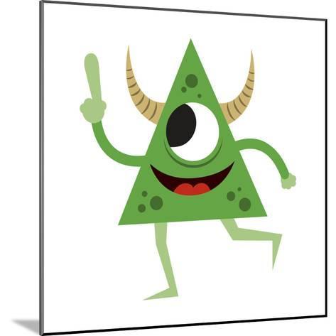 Cute Green Monster-Jimmy Messer-Mounted Giclee Print