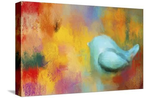 Abstract Bluebird of Happiness-Jai Johnson-Stretched Canvas Print
