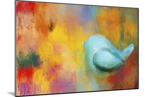 Abstract Bluebird of Happiness-Jai Johnson-Mounted Giclee Print