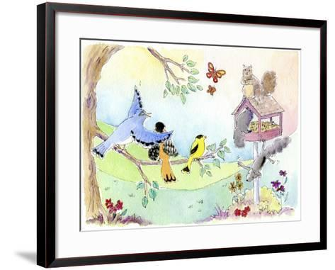 Squirrel Wars-Jennifer Zsolt-Framed Art Print