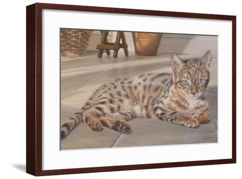Bengal Kitten-Janet Pidoux-Framed Art Print