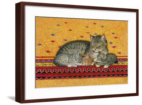 Mother and Kittens-Janet Pidoux-Framed Art Print