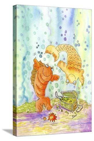 Pisces-Jennifer Zsolt-Stretched Canvas Print