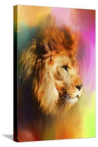 Colorful Expressions Lion-Jai Johnson-Stretched Canvas Print