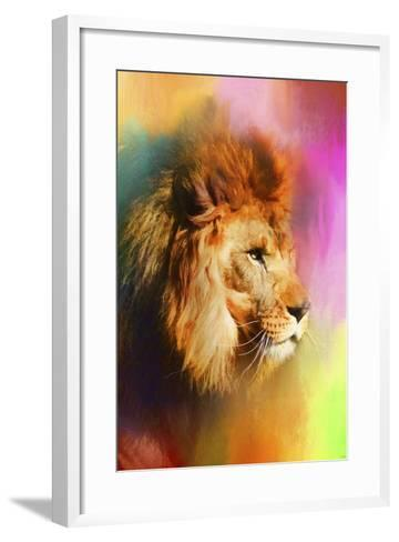 Colorful Expressions Lion-Jai Johnson-Framed Art Print