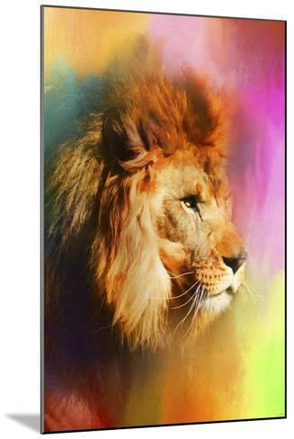 Colorful Expressions Lion-Jai Johnson-Mounted Giclee Print
