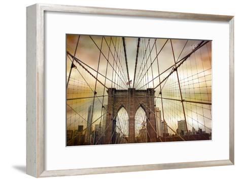 Brooklyn Bridge Sunset-Jessica Jenney-Framed Art Print