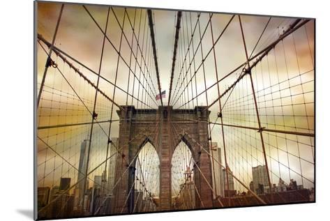 Brooklyn Bridge Sunset-Jessica Jenney-Mounted Giclee Print