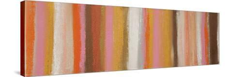 Pink and Metal-Hilary Winfield-Stretched Canvas Print