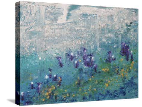 Silver Gardenscape-Hilary Winfield-Stretched Canvas Print