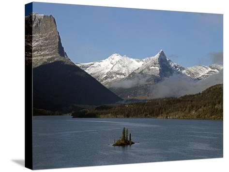 Glacier Park II-J.D. Mcfarlan-Stretched Canvas Print