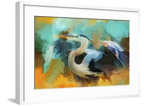 Colorful Expressions Heron-Jai Johnson-Framed Art Print