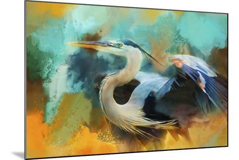 Colorful Expressions Heron-Jai Johnson-Mounted Giclee Print