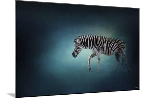 Zebra in the Moonlight-Jai Johnson-Mounted Giclee Print