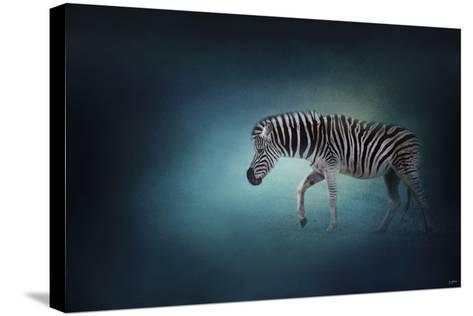 Zebra in the Moonlight-Jai Johnson-Stretched Canvas Print