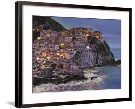 Manarola at Dusk-Guido Borelli-Framed Art Print