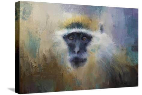 African Grivet Monkey-Jai Johnson-Stretched Canvas Print
