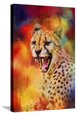 Colorful Expressions Cheetah 2-Jai Johnson-Stretched Canvas Print