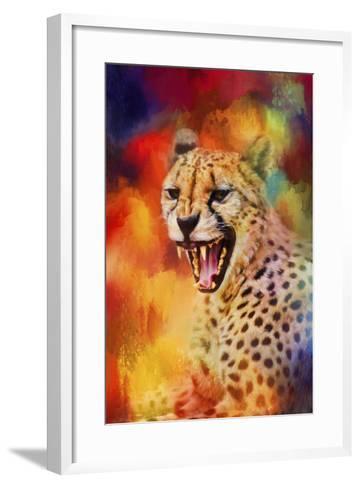 Colorful Expressions Cheetah 2-Jai Johnson-Framed Art Print