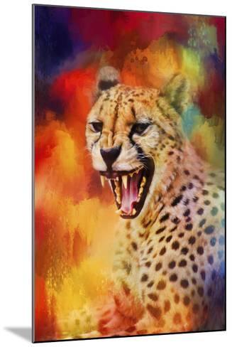 Colorful Expressions Cheetah 2-Jai Johnson-Mounted Giclee Print