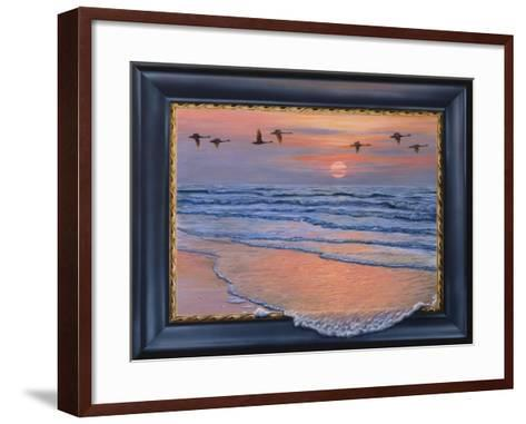 Sundown with Swans-Harro Maass-Framed Art Print