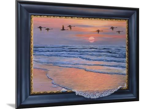 Sundown with Swans-Harro Maass-Mounted Giclee Print