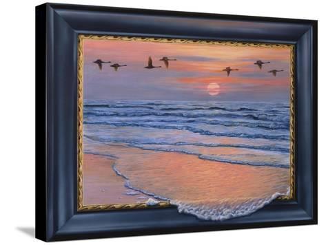 Sundown with Swans-Harro Maass-Stretched Canvas Print