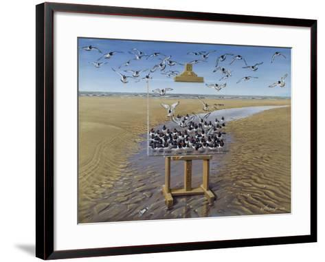 Oyster Catchers-Harro Maass-Framed Art Print