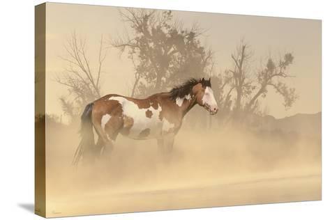 Misty River-Gordon Semmens-Stretched Canvas Print
