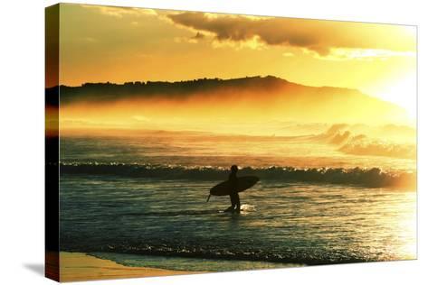 Sunrise Surf-Incredi-Stretched Canvas Print