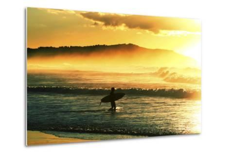 Sunrise Surf-Incredi-Metal Print