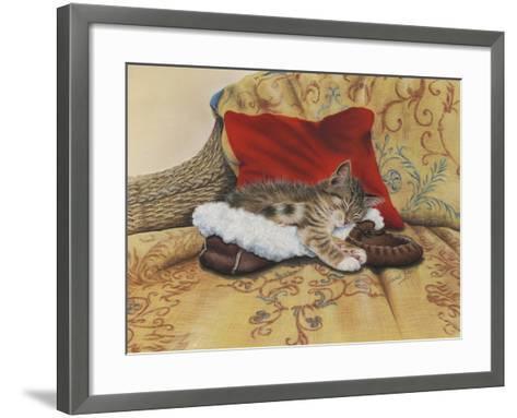 Comfy Slipper-Janet Pidoux-Framed Art Print