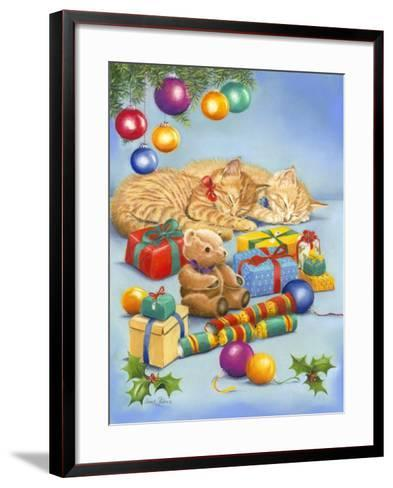 Christmas Kittens-Janet Pidoux-Framed Art Print