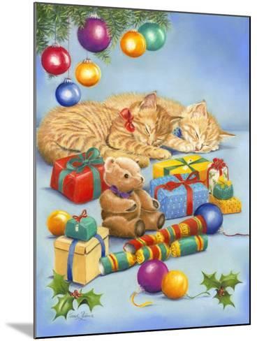 Christmas Kittens-Janet Pidoux-Mounted Giclee Print