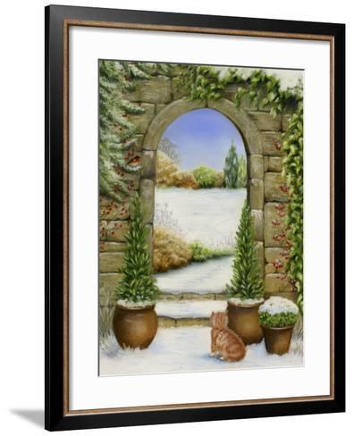Christmas Garden-Janet Pidoux-Framed Art Print