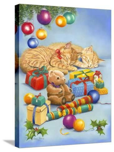 Christmas Kittens-Janet Pidoux-Stretched Canvas Print