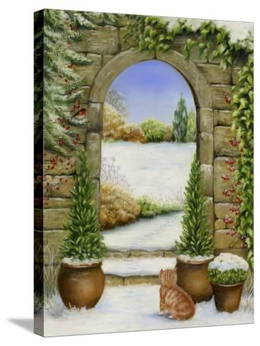 Christmas Garden-Janet Pidoux-Stretched Canvas Print