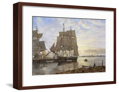 Ships in the Harbor-Jack Wemp-Framed Art Print