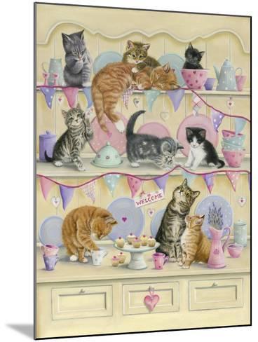 Kittens on Dresser-Janet Pidoux-Mounted Giclee Print
